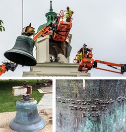 Bell Removed from Woodbury Clock Tower