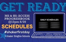 Middle School & High School Student Schedules Available Aug. 20