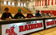 Raider Athletes Sign National Letters of Intent