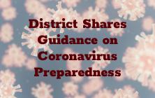 District Shares Guidance on Coronavirus Preparedness