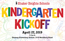 Kindergarten Kickoff is Saturday, April 25