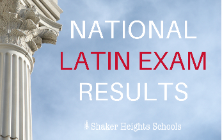 SHHS Students Take Top Medals on the National Latin Exam