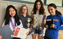 Middle School Students Advance to State Power of the Pen Competition