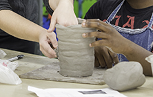 Hands Making Ceramics