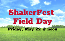 ShakerFest All-District At-Home Field Day is May 22 at Noon!