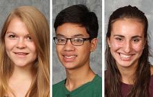 Three Graduates are College-Sponsored National Merit Scholarship Winners