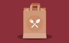 Lunch bag illustration