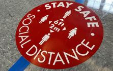 Safe Distance Sign