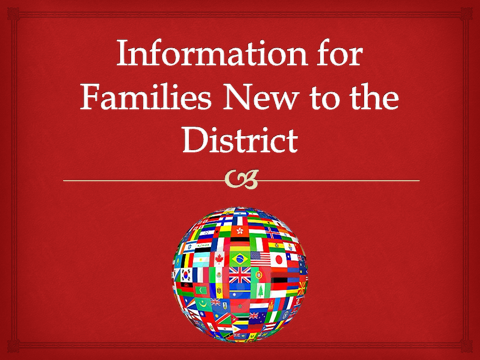 SHHS PTO Information for Families New to the District 2016