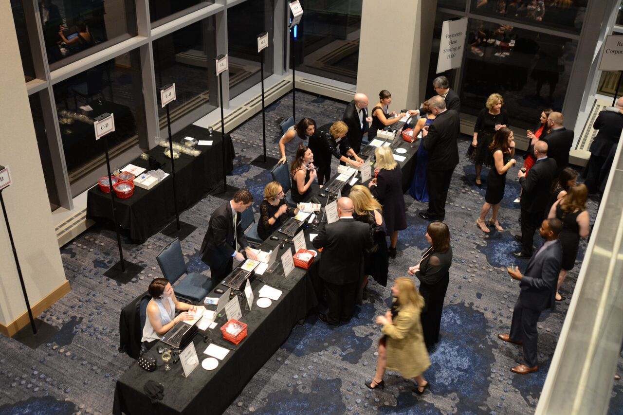 picture of inside Hilton Cleveland Hotel during registration