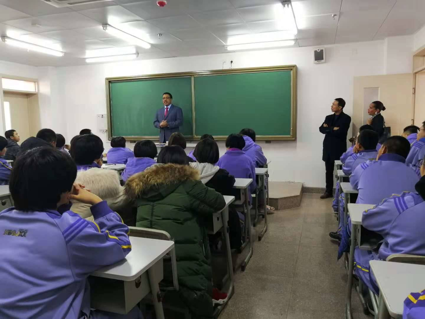 Dr. Wilkins visits a classroom in China.