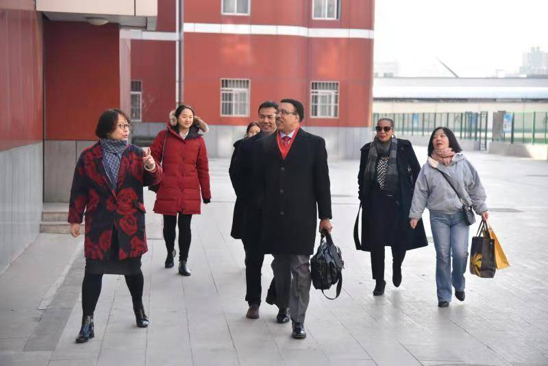 Dr. Wilkins on a school visit in China.