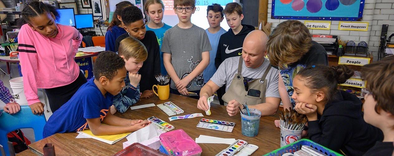 Art Class at Woodbury Elementary School