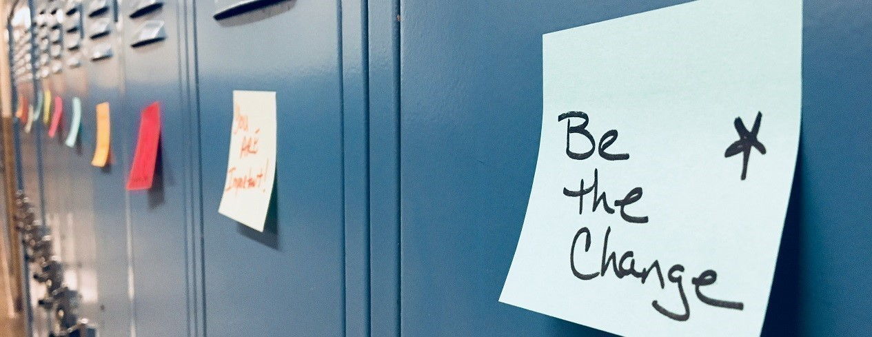 Lockers with Encouraging Notes