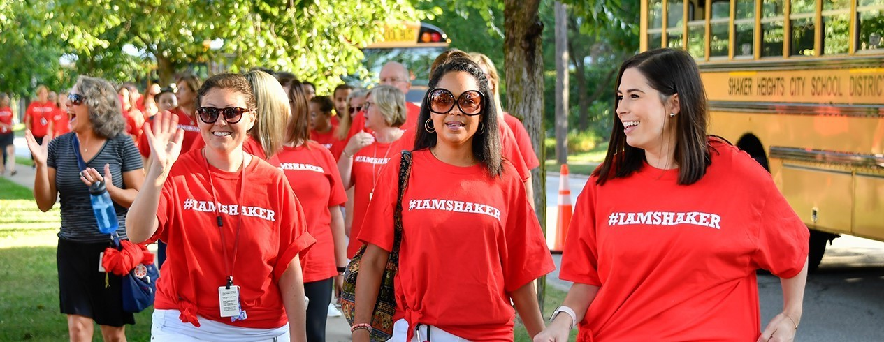 Shaker Schools Faculty & Staff Arrive at Convocation
