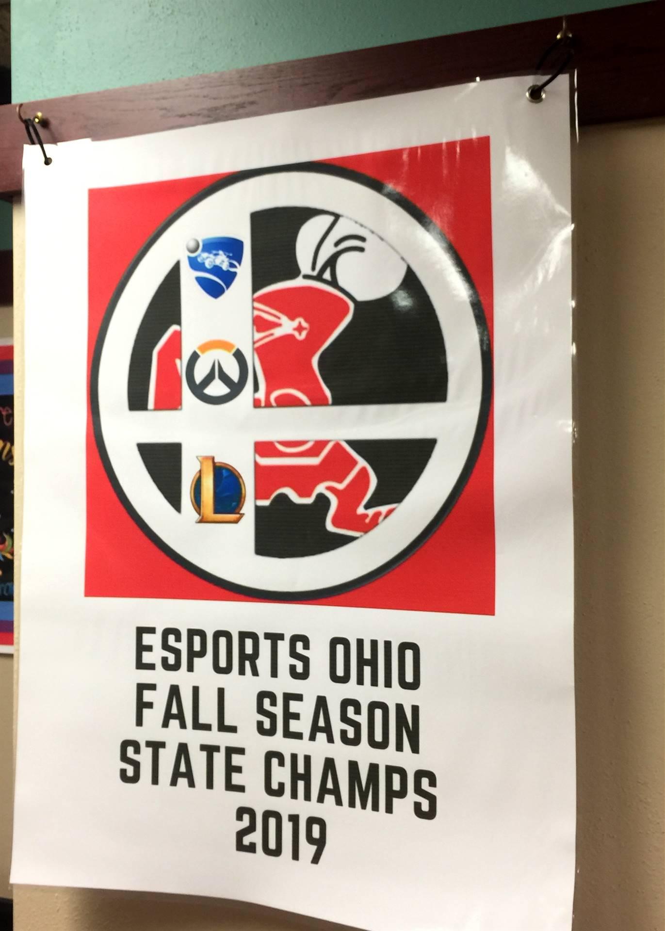 Banner stating Esports championship
