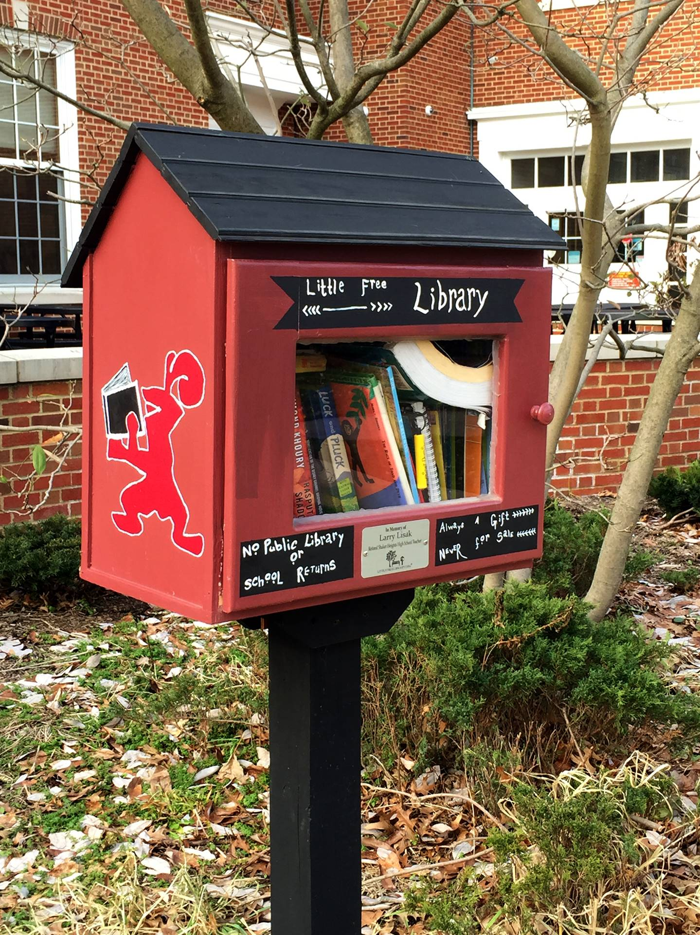 Free little library at SHHS