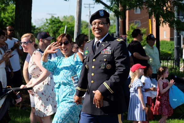 Dr. Stephen M. Wilkins and his wife at the Shaker Heights Memorial Day Parade